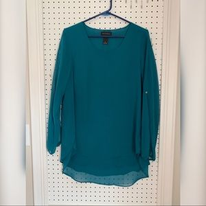 Tops - Turquoise blue chiffon top